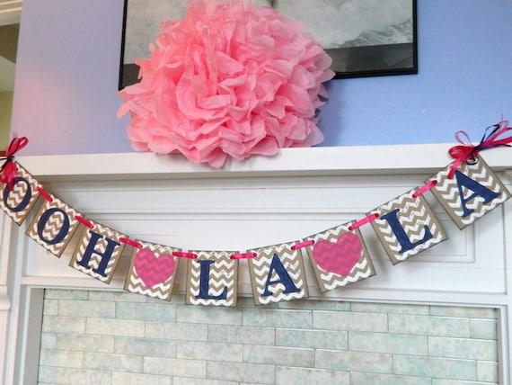 Bridal Shower Banners Ooh La La Banner Bachelorette Party
