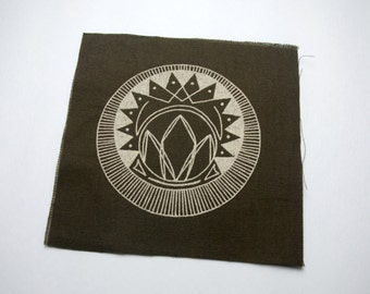 Lotus Crystal Sew On Punk Patch