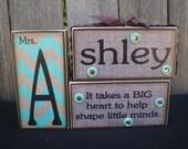 Personalized Wooden Name Blocks - TEACHER (Custom Order)