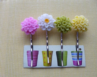 Decorative Cabochon Hair Pins Set-(g153)