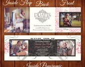 Trifold Wedding Invitation AN ELEGANT AFFAIR  Premium Prints Color Match Your Theme