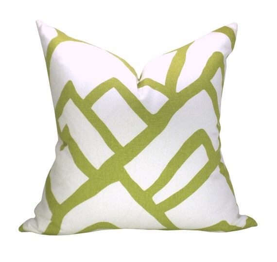 Zimba pillow cover in Soft Chartreuse