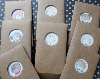 "Mini Notecards with ""Peek-A-Boo"" Envelopes"