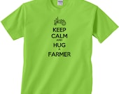 Keep Calm and Hug a Farmer - Small to Plus Size Tees  - Variety of Colors