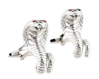 Cobra Cufflinks - Groomsmen Gift - Men's Jewelry - Gift Box Included