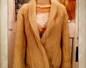 Vintage Faux Fur Reversible  beige Jacket