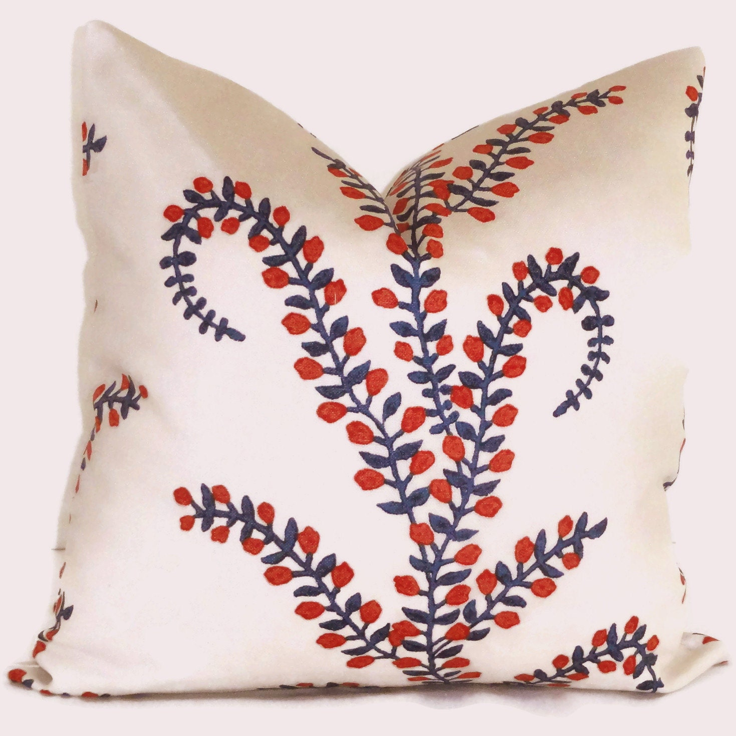 Decorative Pillows Robshaw : Red White Blue Prasana Decorative Pillow Cover Square or