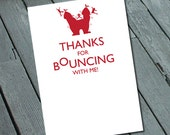BOUNCE Party Kid's Birthday THANK YOU: Digital printable file/Printing Available Upon Request