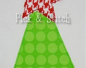 Whimsy Christmas Tree Applique Design Machine Embroidery INSTANT DOWNLOAD