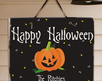 Happy Halloween Welcome Slate Plaque -gfy63124867