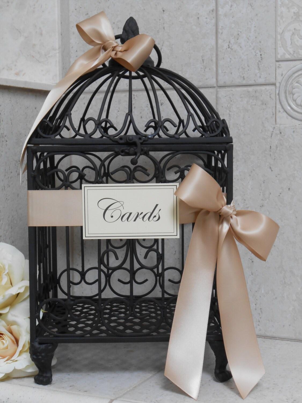 Wedding Gift Card Birdcage : Black Birdcage Wedding Card Holder / Wedding Cardholder /