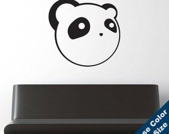Anime Panda Wall Decal - Vinyl Sticker - Free Shipping