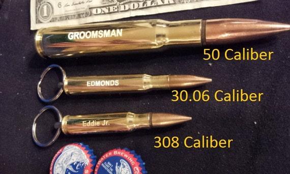 5 308 bullet bottle opener engraved keychains groomsmen gift. Black Bedroom Furniture Sets. Home Design Ideas