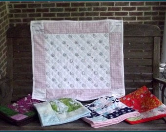 Easy Peasy Fat Quarter Baby Quilt Pattern