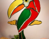 Stained Glass Toucan Bird  (442)