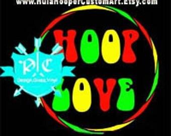 Hoop Love Rasta Decal