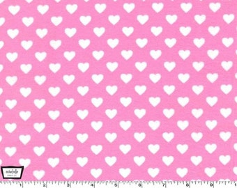 SALE - Hearts All Over - Cotton FLANNEL - Pink from Michael Miller