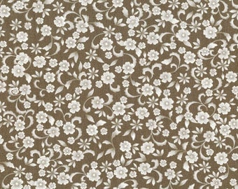 SALE - Chantilly - Taupe Small Flower from Timeless Treasures