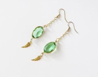 The Kokiri Dangle Earrings Legend of Zelda Inspired