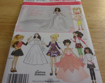 Simplicity Pattern 1955 for Fashion Dolls