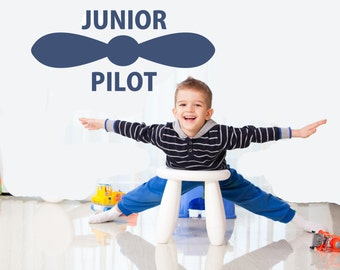 Junior Pilot wall decal (small)