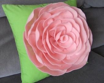 Suzannah Rose Flower Pillow Pattern Felt Rose Pattern Felt Flower Pattern and 2 BONUS Pillow Covers Tutorial PDF ePattern How To