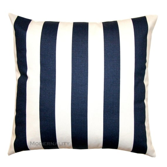 Throw Pillows Navy And White : Throw Pillows Navy and White Canopy by ModernalityHomeDecor