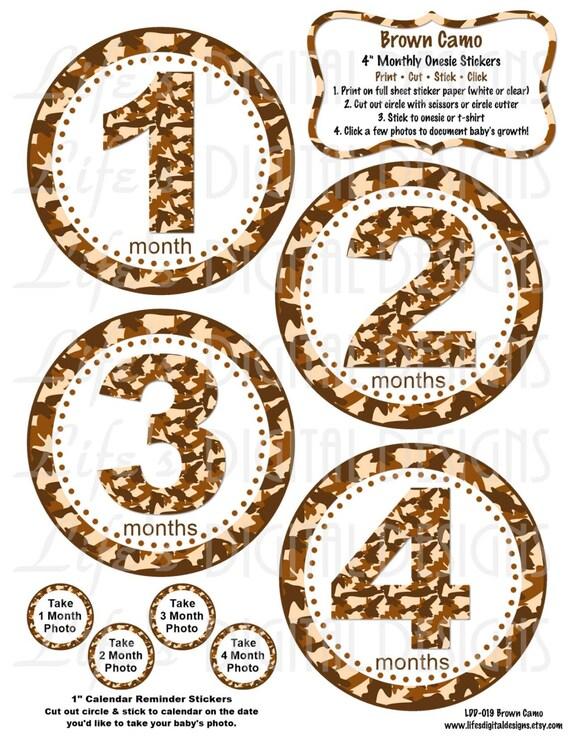 ... Printable BONUS Just Born, 1-3 Weeks and Reminder Calendar Stickers