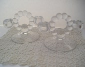 Double Light Glass Bubble Candle Holders
