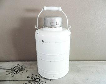Unbreakable Stanley Gallon Jug Water Cooler Vintage Water Jug Vintage Thermos White Cooler Camping Cooler Lined Cooler Metal Cooler