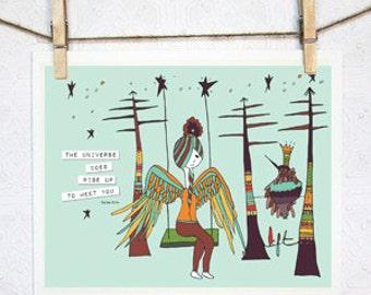Lift. Inspriational Art Print