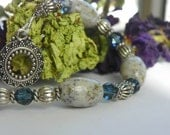 Keepsake Bracelet with YOUR special wedding, funeral, or honeymoon flowers, fabrics, sands or ashes,