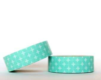 Mint Crosses Washi Tape
