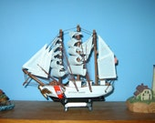 "Wooden COAST GUARD Bark EAGLE Model Ship 7"" Long- Fully Assembled"