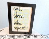 Bike Art, Custom Bike Art in Frame, Bicycle Art, Bike Frame, Blue Bike, Pink Bike, Yellow Bike, Bike Gift, Bicycle Gift, Bicycle Art