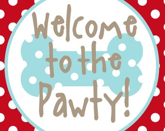 NEW INSTANT DOWNLOAD The Puppy Party Collection 8x10 party sign