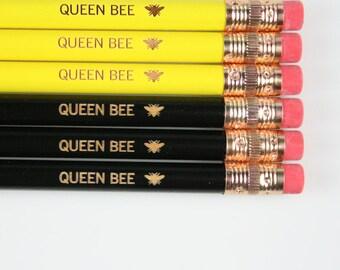 queen bee set of 6 pencils