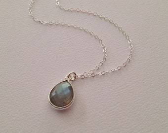 Labradorite Necklace in Sterling Silver