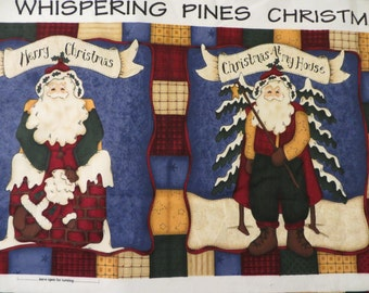 Fabric Craft Panel to Sew a Soft Children's Book, Personalized Photo Book, Whispering Pines Christmas Book, Leslie Beck Cranston Gift to Sew