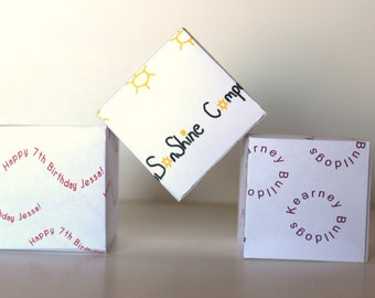 Personalized Custom Party Favor Treat Gift Box  Special Occasion