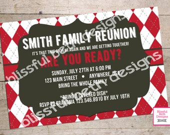 FAMILY REUNION Invitation Personalized Family Reunion Printable Invitation, Family Reunion Invite, Reunion Invite, Family Reunion Invitation