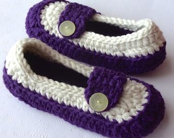 Crochet Slippers, Womens Slippers, Crochet Booties, Crochet Slipper, House Slippers, House Shoes, Ladies Slippers, Womens Size 5 / 6