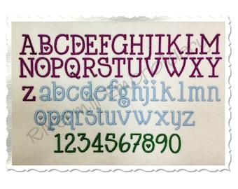 Cupid Machine Embroidery Font Alphabet - 3 Sizes