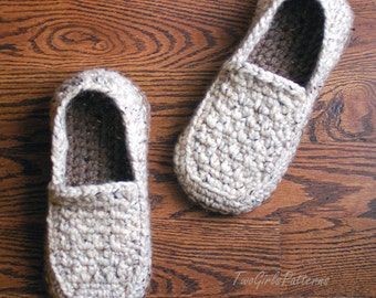 CROCHET PATTERN 212 ADULT Bunny Slippers Womens