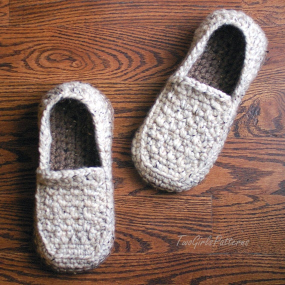 Crochet Patterns For Men s Gifts : Crochet Pattern for Super Pack of Mens Loafers Crochet
