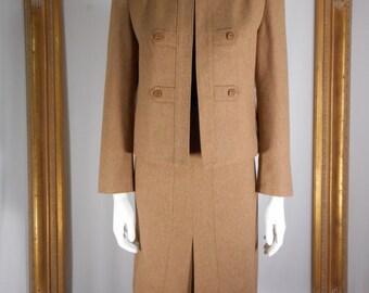 Vintage Juli de Roma Camel Suit - Size 16