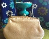 Ladies Gold Evening Purse in Original Box