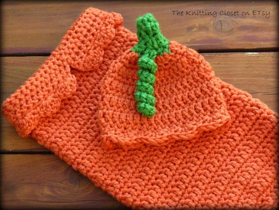 Free Crochet Pattern For Pumpkin Baby Cocoon With Hat : Crochet Baby Pumpkin Cocoon Pattern and Hat Pattern ...