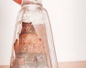 Vintage Italian Glass Medicine Bottle - #4 - Apothecary Bottle - Hospital Bottle - Vintage Medical