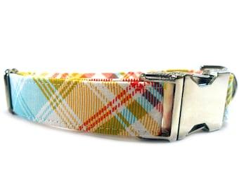 Dog Collar, TARTAN Dog Collar, Handmade Dog Collar